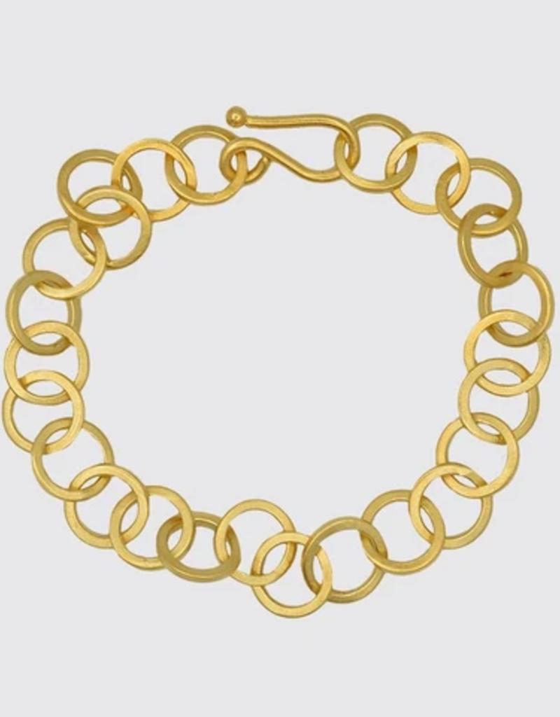 JANE DIAZ Circle Link Chain Bracelet