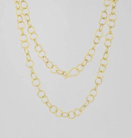 "Jane Diaz 36"" Circle Link Chain Necklace"