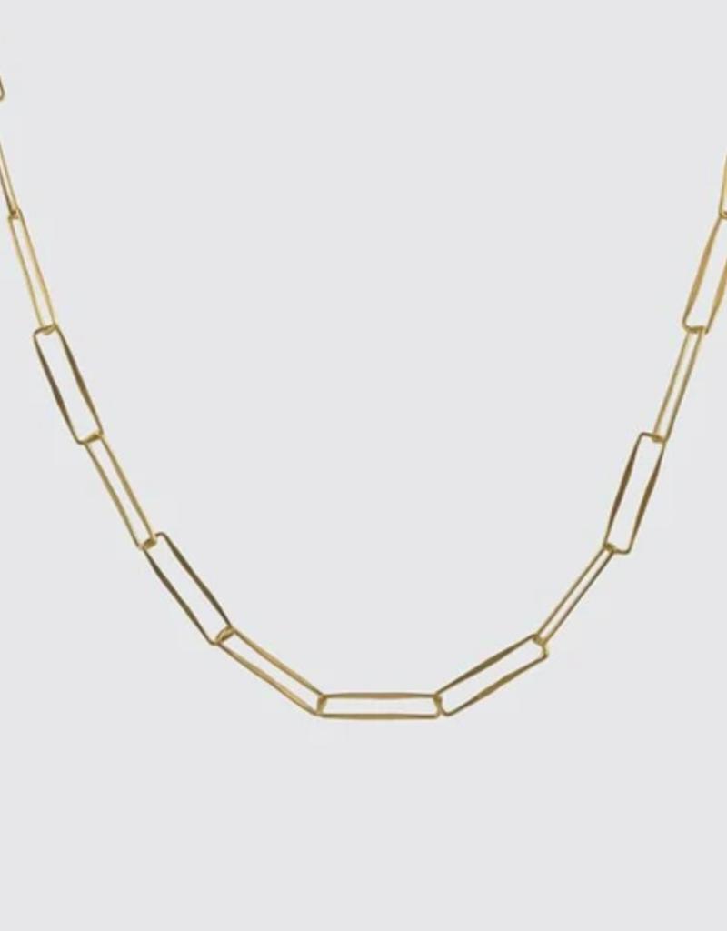 "JANE DIAZ 22"" Paper Clip Handmade Chain Necklace"