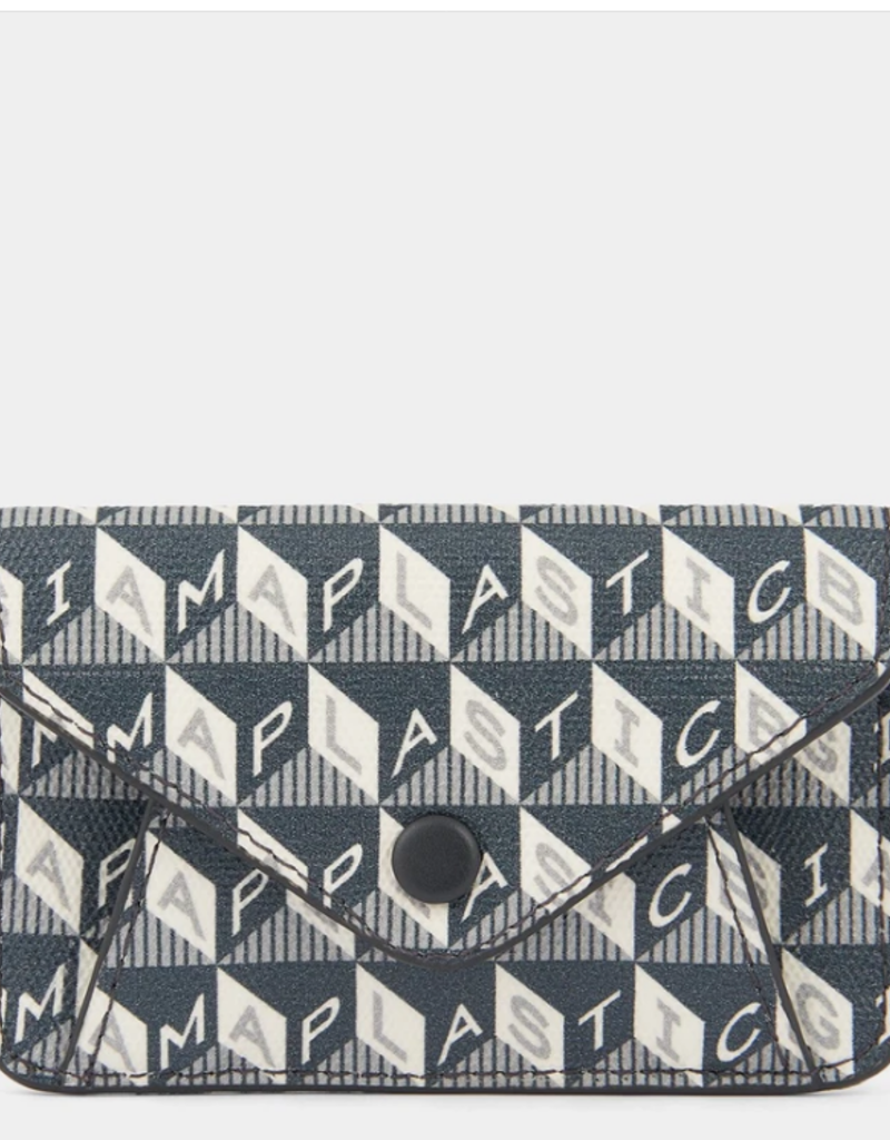ANYA HINDMARCH Envelope Purse Sticker - I am a Plastic Bag - Charcoal