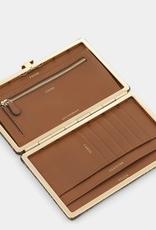 ANYA HINDMARCH Frame Wallet - Espresso Water Snake
