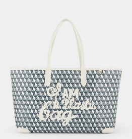 ANYA HINDMARCH I am a Plastic Bag - Small Tote - Charcoal