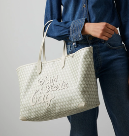 ANYA HINDMARCH I am a Plastic Bag - Large Tote - Chalk