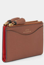 ANYA HINDMARCH Shiny Double Zip Wallet - Peeping Eyes - Cedar Shiny Capra