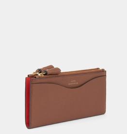 ANYA HINDMARCH Large Double Zip Wallet - Peeping Eyes - Cedar Shiny Capra