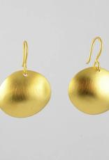 Jane Diaz Hammered Organic Dome Earrings