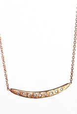 14K Rose Gold + 9 Diamond Necklace