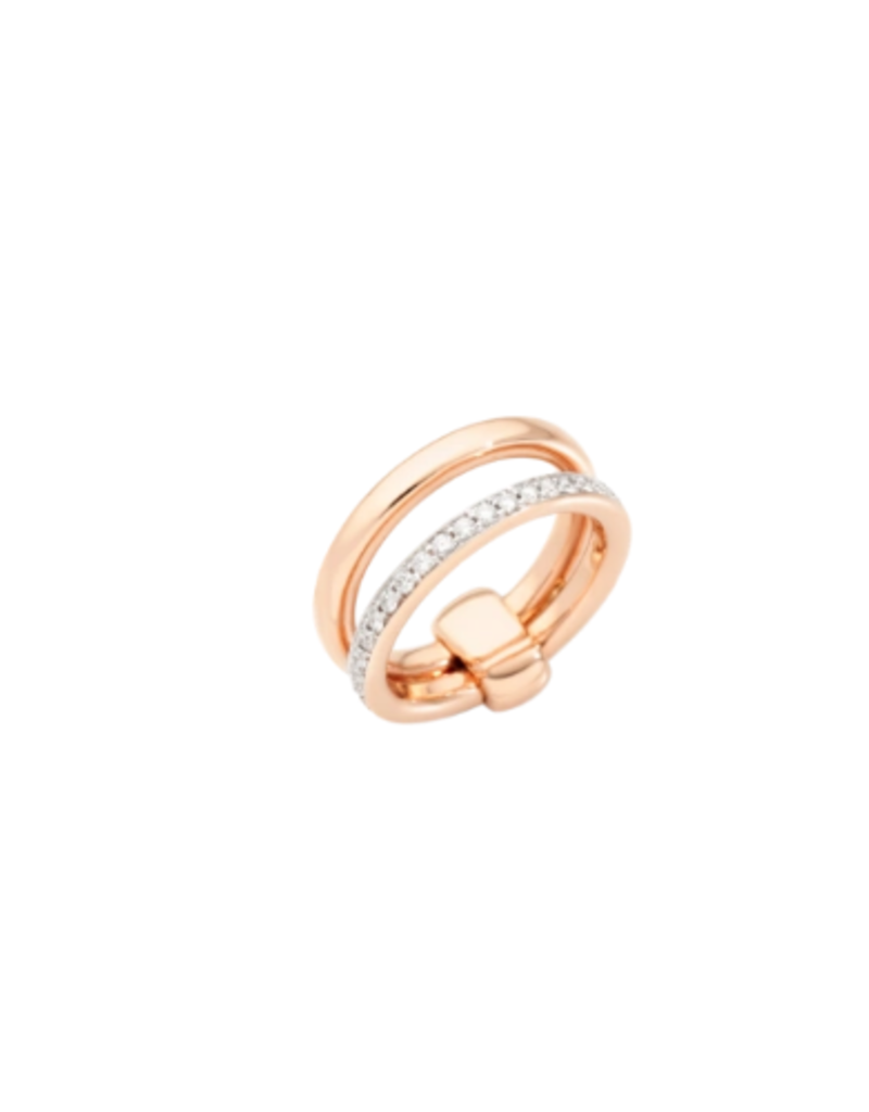 POMELLATO Iconica Double Band Ring