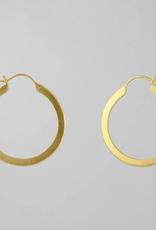 JANE DIAZ Flat Medium Hoop Earring