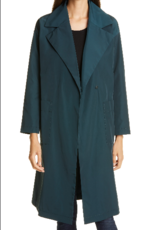 EILEEN FISHER Recycled Polyester Notch Collar Trench Coat -