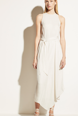 VINCE Handkerchief Drape Halter Dress - Bone