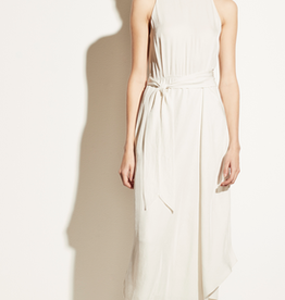 VINCE Handkerchief Drape Halter Dress - Bone