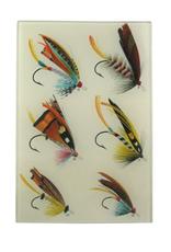 "JOHN DERIAN Salmon Flies #18 6 x 9"" Rectangle Tray"