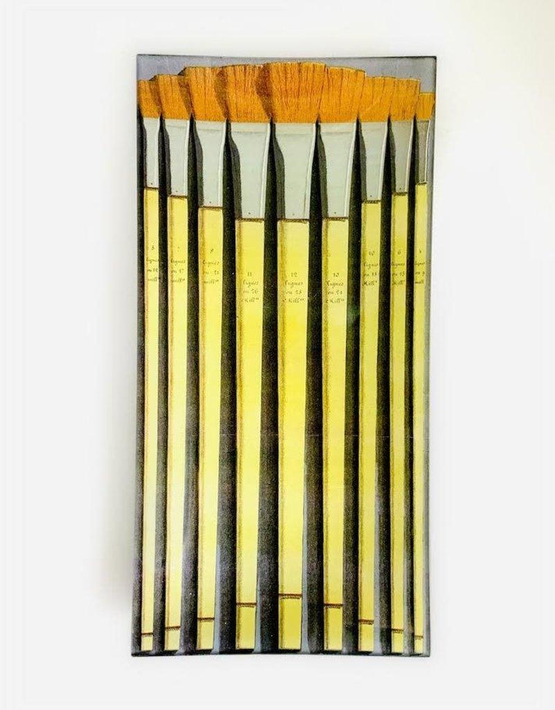 "JOHN DERIAN Brushes 81 6 X 12"" Pencil Tray"