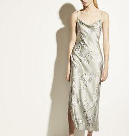VINCE Hazy Blossom Cowl Neck Slip Dress