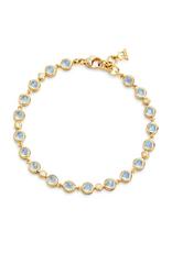 TEMPLE ST CLAIR 18K Mini Blue Moonstone Link Bracelet