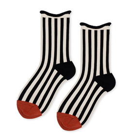 Hansel from Basel Pantomime Navy Stripe Crew Sock