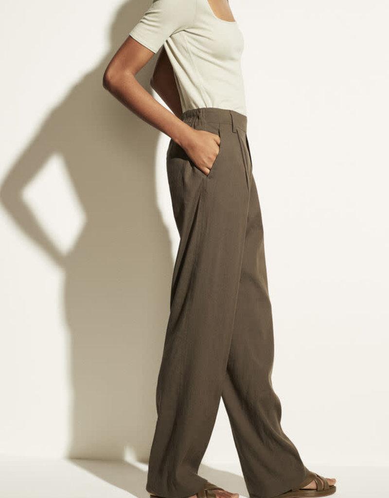 VINCE Linen Wide Leg Pull On Pant