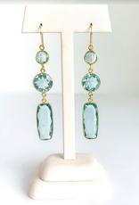 SENNOD Spring Quartz Dangle Earrings