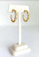 SENNOD Maxine White Agate Hoop Earrings