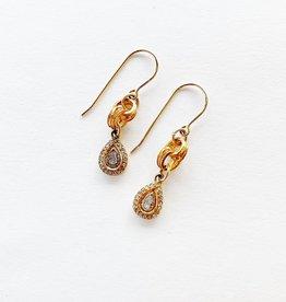 SENNOD Diamond Slice Tear Earrings