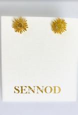 SENNOD Poppy Post Stud Earrings