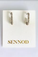 SENNOD Sterling Remy Coma Hoop Earrings