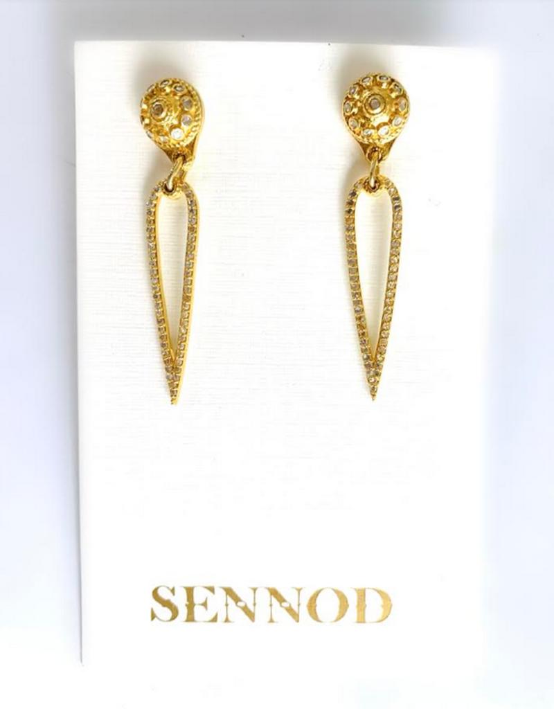 SENNOD Remy Diamond Post and Teardrop Earrings