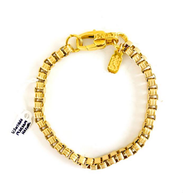 SENNOD Vintage Miriam Haskell Box Chain Bracelet