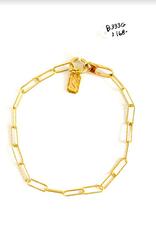SENNOD Small Paperclip Bracelet
