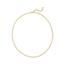 """TEMPLE ST CLAIR 18K Extra Small Oval Chain - 18"""""""
