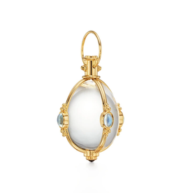 TEMPLE ST CLAIR 18K Large Blue Moonstone Amulet