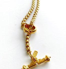 "SENNOD Chunky Box Chain Lariat 24"" Necklace"