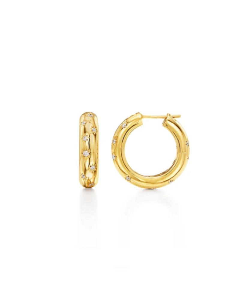 TEMPLE ST CLAIR 18K Cosmos Hoop Earrings
