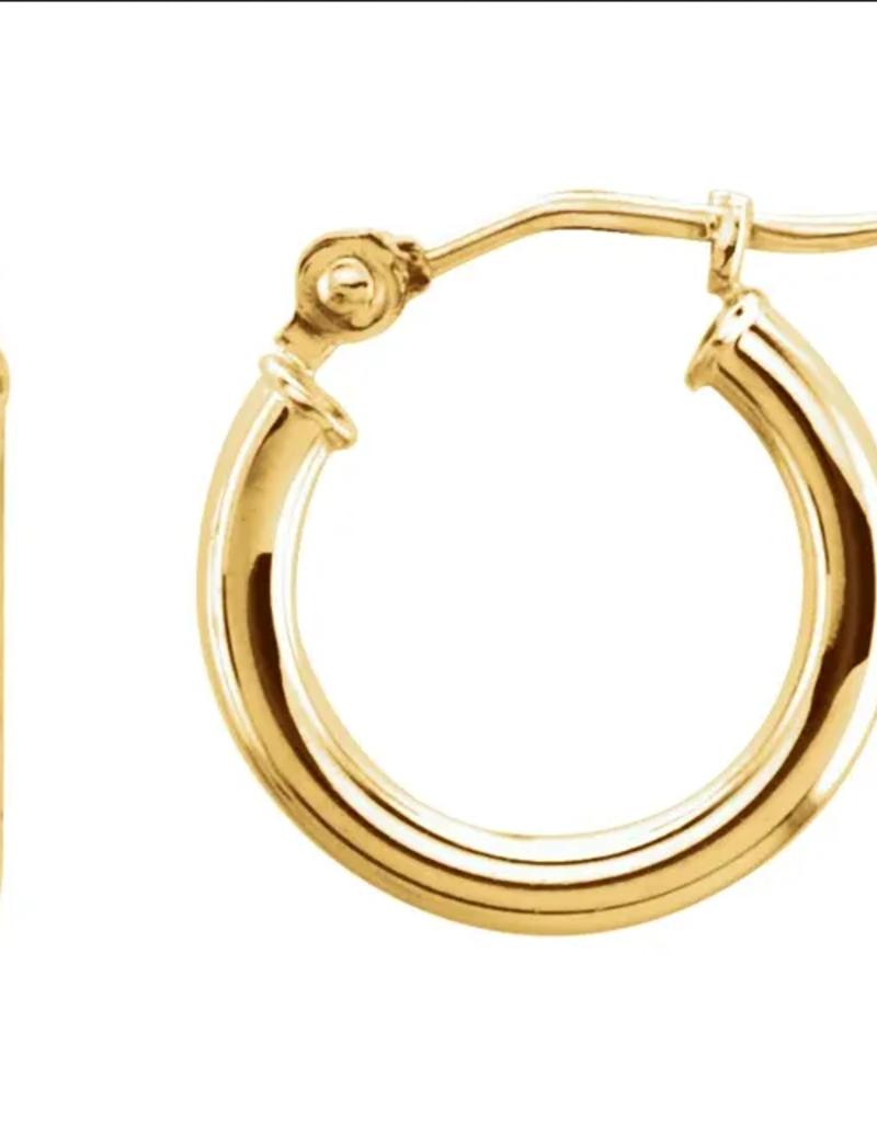302 COLLECTION 14KT 13mm Tube Hoop Earrings
