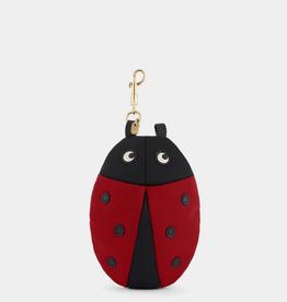ANYA HINDMARCH Ladybird Charm Nylon Shopper - Red