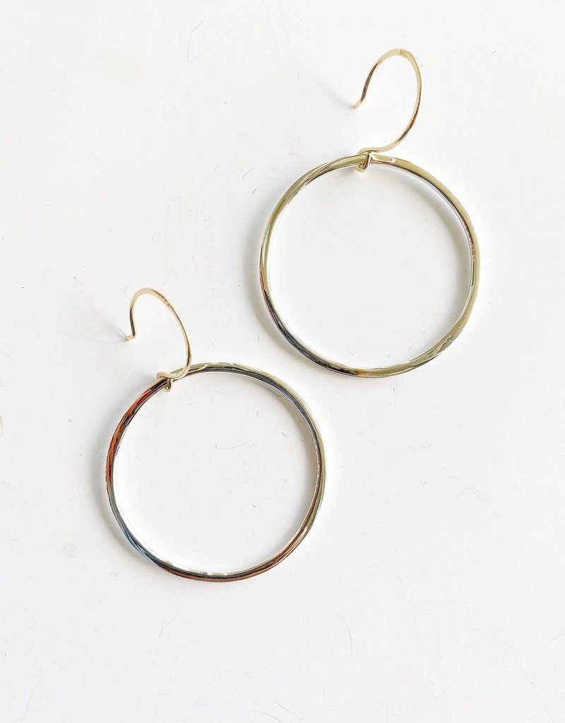 SHANNON JOHNSON Sterling Silver Signature Hoops - Small