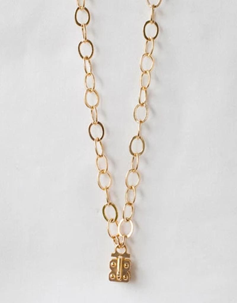"SENNOD Flat Cable Vignette Chain 24"" - Gold"