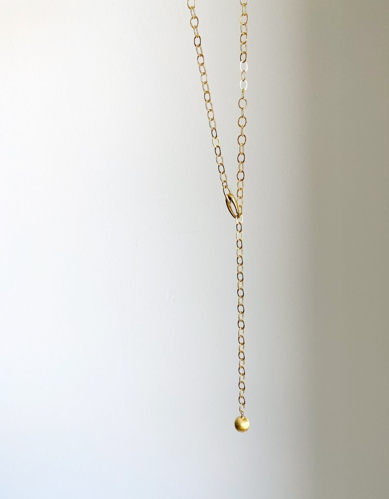 """SENNOD Flat Cable w/ Italian Lobster Clasp + Ball Necklace - 32"""""""