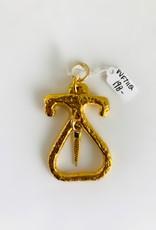 SENNOD Gold Roman Hinge with Diamond and Sapphire Dagger Vignette