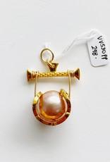 SENNOD Remy Diamond Cradle with Pink Pearl Vignette