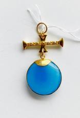 SENNOD Mod Blue Chalcedony on Diamond Pebble Bar Vignette