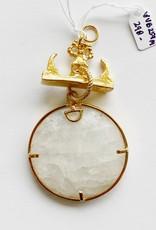 SENNOD Ringold Moonstone on Gold Bar Vignette