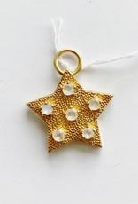 SENNOD Gold Star with Moonstone Vignette