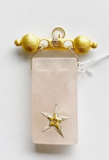 SENNOD Rose Quartz with Diamond Star on Baron Barr Vignette