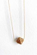 "SENNOD Rose Gold Diamond Ball 18"" Necklace"