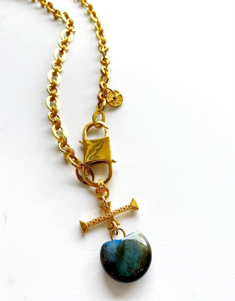 "SENNOD Athena Chain with Labradorite 20"" Necklace"
