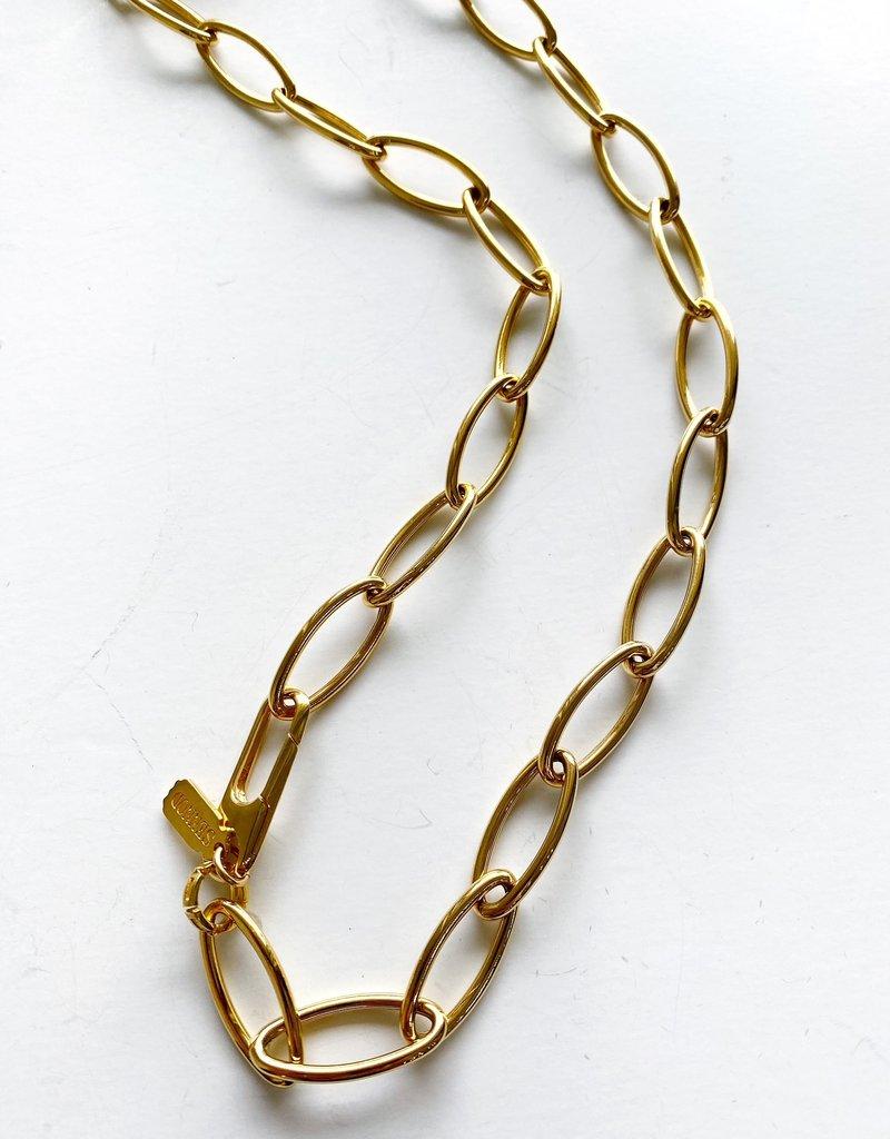 "SENNOD Italian Holden Oval Chain 25"" Necklace"