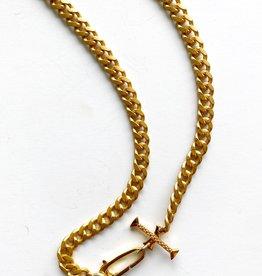 "SENNOD Matte Italian Curb Chain 22"" Necklace"