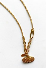 """SENNOD Athena and Curb Chain with Medallion 20"""" Necklace"""